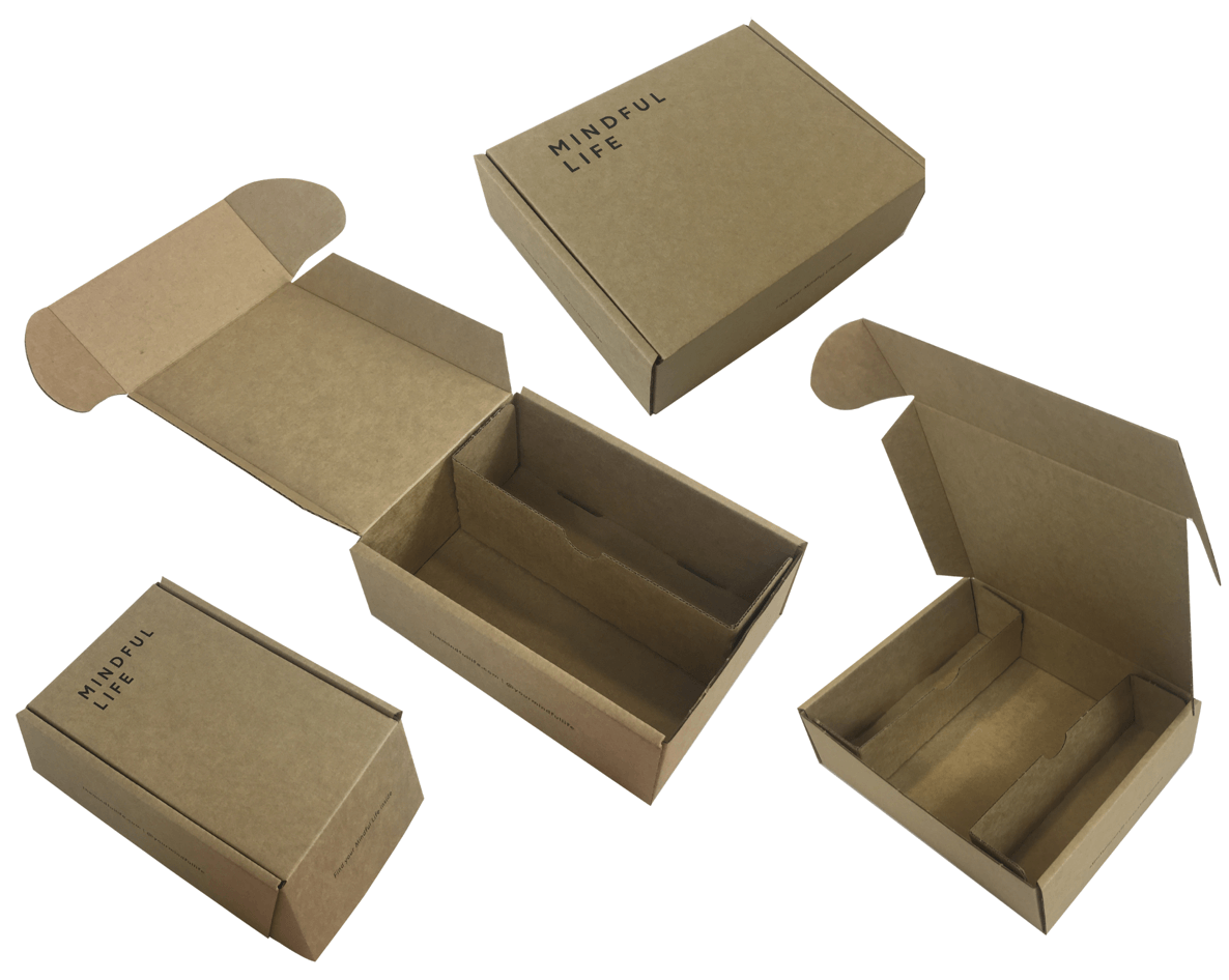 PPI designed Mindful Life's packaging with adjustable inserts to hold and protect multiple product combinations.