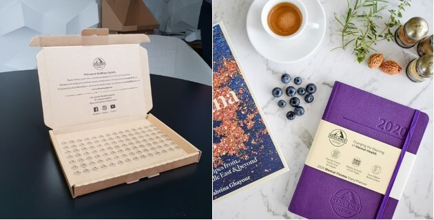 We created custom packaging and labels for Resilience Agenda, including a supporting message that acts as a reminder of the purpose of their diaries and notebooks, and is is aligned with the brand's focus on mental health.